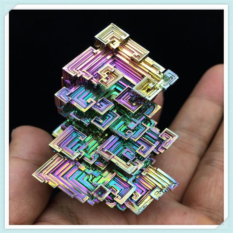 Bismuth Crystals 172g Bismuth Metal crystal bismuth crystals bismuth bi metal crystal rainbow bright metal mineral specimen original nature art artwork decorative article