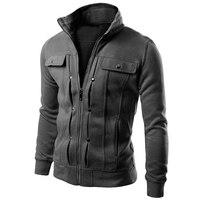 Brand 2018 Cardigan Multi Button Hoodies Men Fashion Tracksuit Male Sweatshirt Mens Purpose Tour 4XL