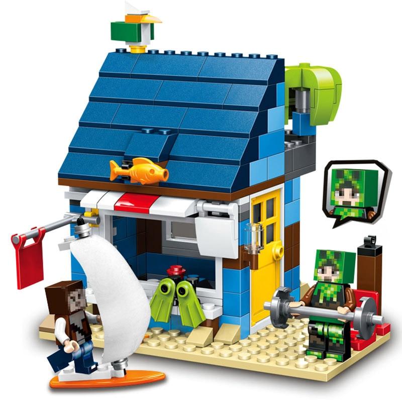 New LELE 3in1 Brick My World Series 287pcs Beach Resort Tree House Model Building Blocks Compatible LegoINGlys Toys for Children mary pope osborne magic tree house 43 leprechaun in late winter