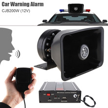 12V 400W 8 Sound Car Warning Alarm Police Ambulance Fire Truck Siren Horn Speaker Loudspeaker + MIC + Wireless Remote Control цена 2017