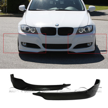 P Стиль автомобиля Стайлинг PU материал передний сплиттер части бампера губы для BMW 3 серии E90 LCI передняя губа 2 шт/комплект 2009-2011