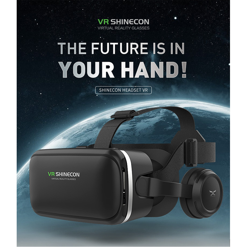 CARPRIE VR/AR Glasses Vritual Reality Shinecon Headset VR Glasses universal 3D Box For iphone With Controller td15 dropship