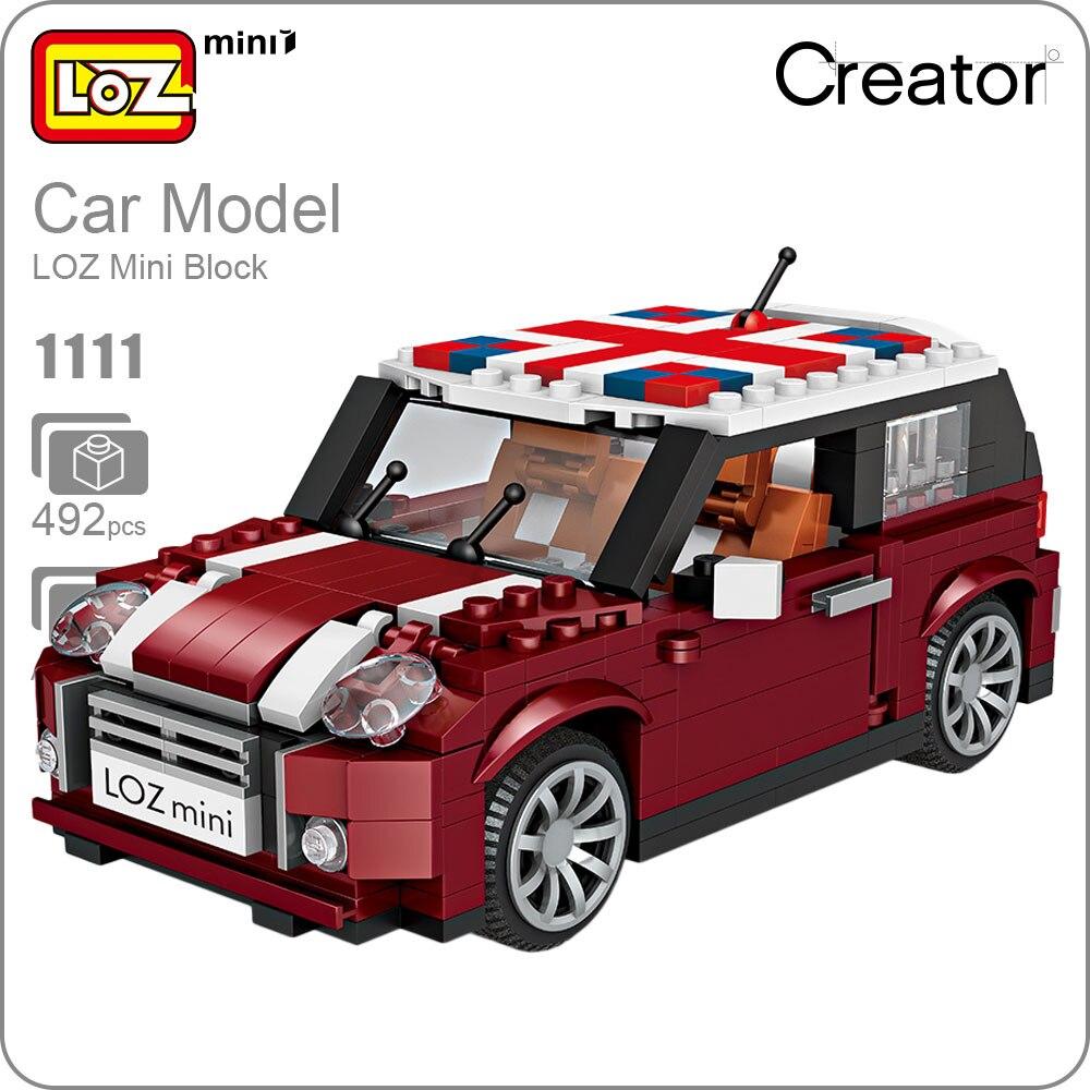 LOZ Mini Blocks Modello di Auto 1:24 Building Blocks Technic Creator Auto Da Corsa Giocattoli per I Bambini Assemblaggio Educativo Regali FAI DA TE 1111