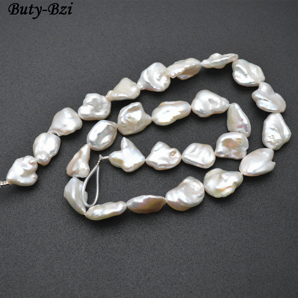 High Quality Natural Fresh Water White Pearl Irregular Square Slice Loose Beads DIY Jewelry Making Supplies