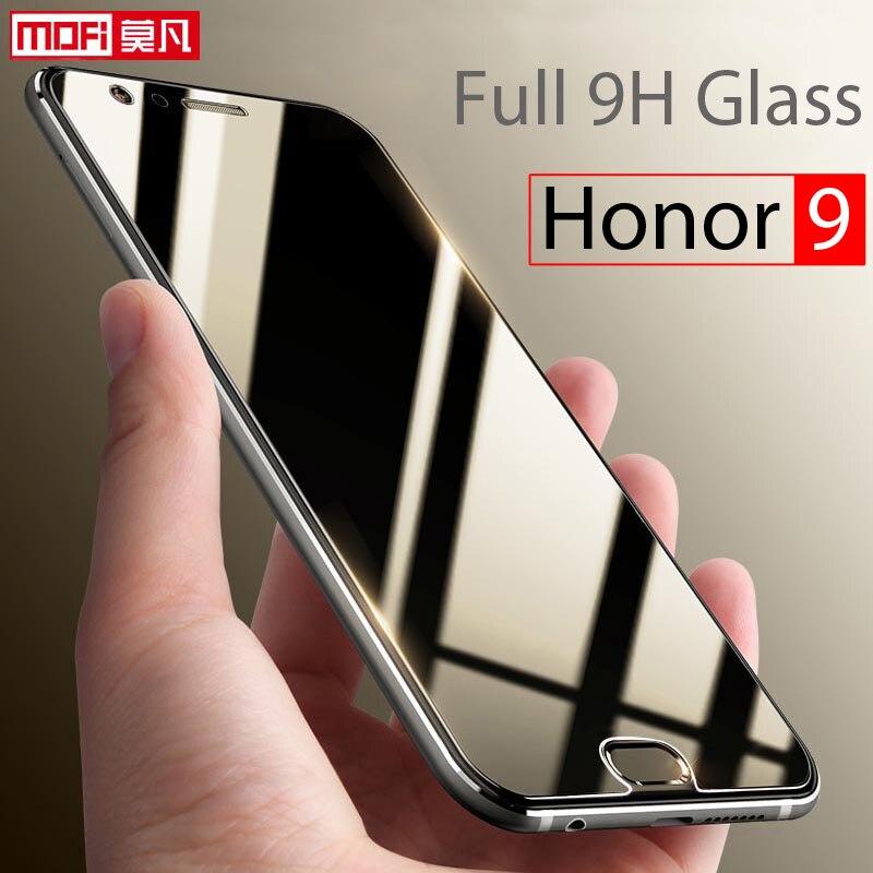 Huawei Honor 9 Glas Gehärtetes Glas-schirm-schutz 2.5d Mofi Ultra klare Dünne 9 H Hafenpersenning Schirmschutz Huawei Honor 9 glas