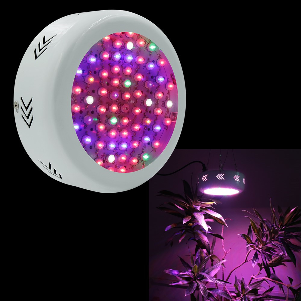 1X UFO 216W 72x3W Full Spectrum LED Grow Lights Hydroponics Grow Box LED Lamps For Greenhouse Plant Vegetable Growth Flowering 1pc led grow lights e27 15w 3 red 2 blue for flowering plant and hydroponics greenhouse led lamp full spectrum free shipping