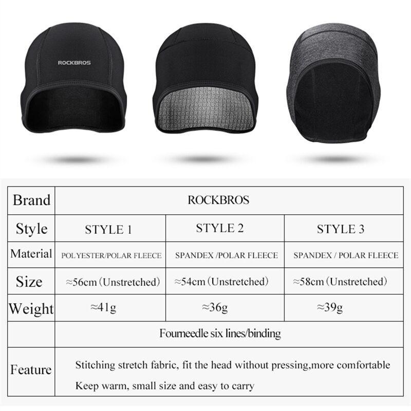 RockBros Cycling Cap Windproof Warm Fleece Outdoor Sports Underwear Cap