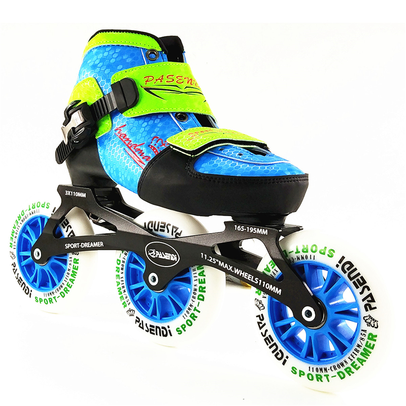 Children adjustable inline speed skating shoes professional inline roller skates adjustable 3 wheels skates for kids professional long track ice blade 330mm 380mm 430mm 7075 alunimium alloy base frame for kids ice speed skates and adults