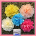 17 colors for your choose 41/2'' organza mesh silk flower alligator hair clip and brooch pin