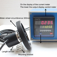1PC CH72 Meter Meter Electronic Encoder Wheel Roll To Measure The Length Meter Record|Gauges| |  -