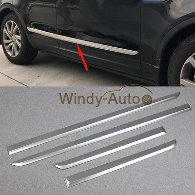Fit For Land Rover Discovery 5 2017 2018 Chrome Body Side Molding Cover Trim