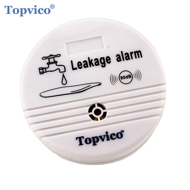 Topvico Wireless Water Overflow Leakage Alarm Sensor Detector 90dB Voice Work Alone Water Level Alarm Home Security Alarm System