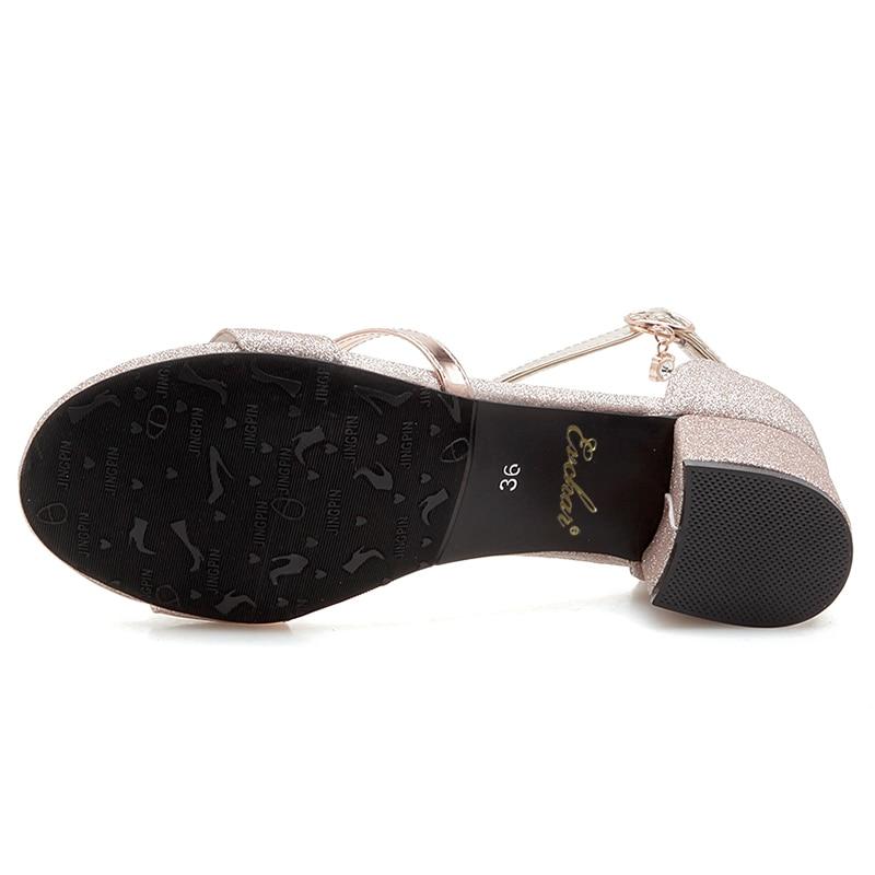 Evchar Pu Taille 31 Cuir La Glitter Med Femme Sangle Concis Plus H512 Solide Silver Femmes Chaussures Cheville gloden Boucle Sandales 50 Talon Carré H512 rxTaqUzrCw