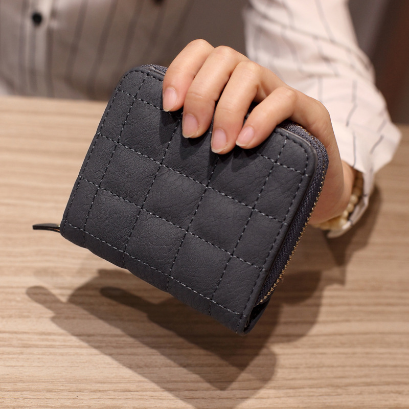 Women Short Wallets PU Leather Female Plaid Purses Nubuck Card Holder Wallet Fashion Woman Small Zipper Wallet With Coin Purse 6000 lm 3 led xm l t6 led flashlight torch 3t6 self defense lanterna 16850 flash light linterna led battery charger
