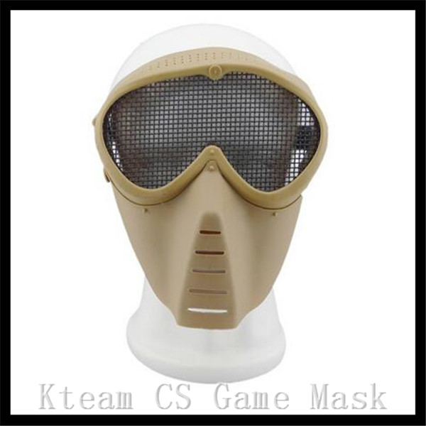 Top Grade Resin Black Airsoft Paintball Tactical Full Face Protection Skull Mask CS War Game Face Mask for CS Cosplay