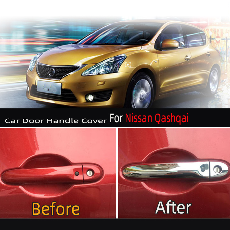 KARCNG 8pcs/set Car door handle cover stainless steel Chrome decorative sticker FOR <font><b>Nissan</b></font> March Micra Versa Tiida Note <font><b>E12</b></font> image
