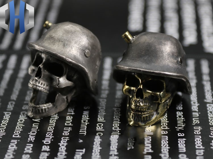 Огорченный Стерлинговое серебро латунь инкрустированный немецкий нож для шлема кулон EDC брелок Аксессуары для инструментов нож бусы - 6