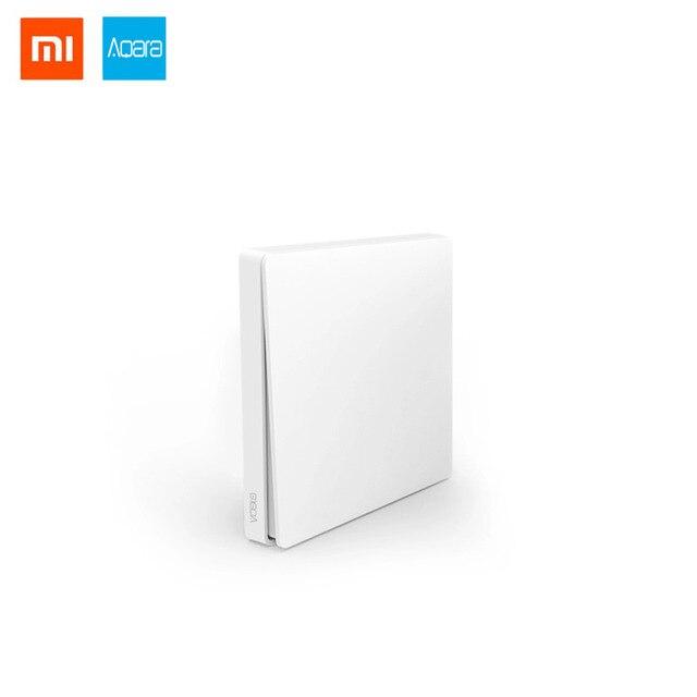 New Xiaomi Aqara Wireless Smart Switch Single Button Light Remote Control ZiGBee wifi Key Wall Switch work with Mi Home APP
