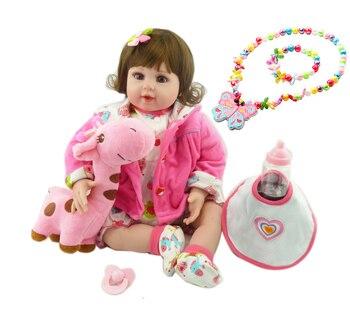 Reborn toddler babies l.o.ldolls 52cm vinyl silicone reborn baby doll fashion children doll gift bebes reborn menina
