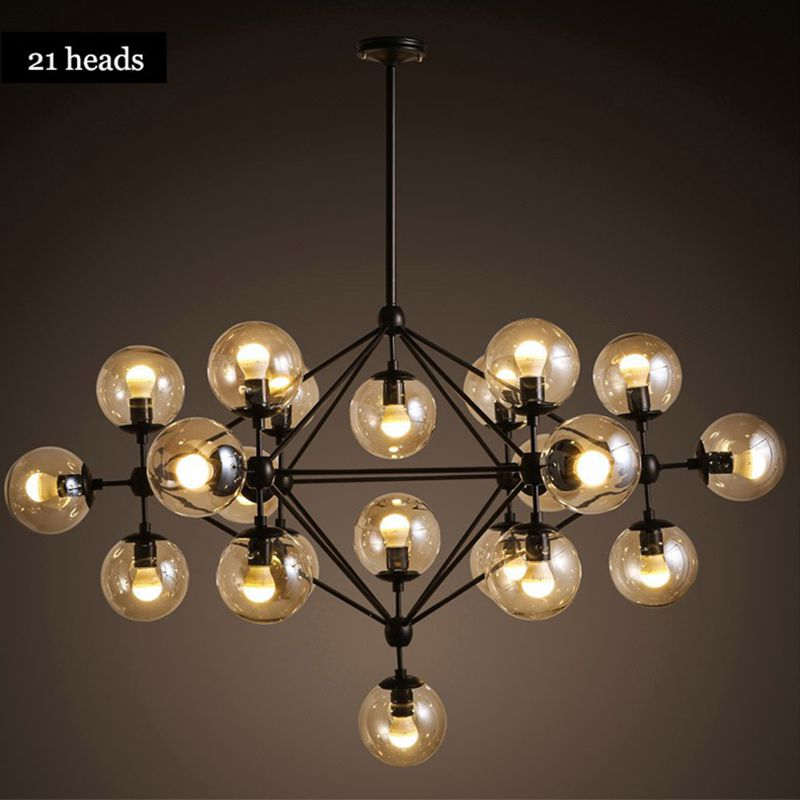 AC 110-240V LED Modern Glass Pendant Light magic beans DNA Lustres pendant light Nordic Art Deco glass ball MOD hanging lighting  zg9048 pendant light ac 110 240v