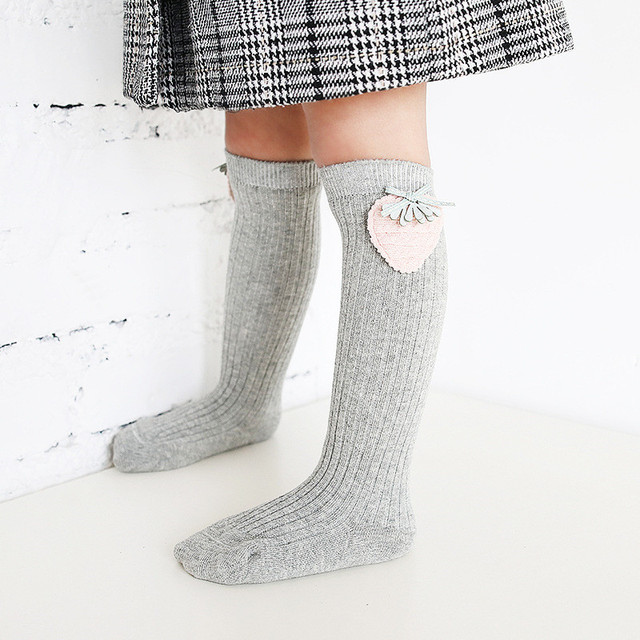 Cartoon Cotton Knee High Socks For Girls