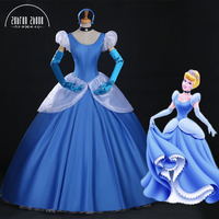 Fashion Womens Ladies Cinderella Princess Costume Adult Cinderella Costume Fairy Tale Cosplay For Women Hallowmas