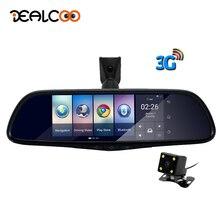 """Dealcoo Coche DVR Espejo Retrovisor Cámara 3G Especial Auto 7 """"Android 5.0 Dash Cam Full HD 1080 P Grabador de Vídeo Bluetooth Auto Registrador Dvr"""