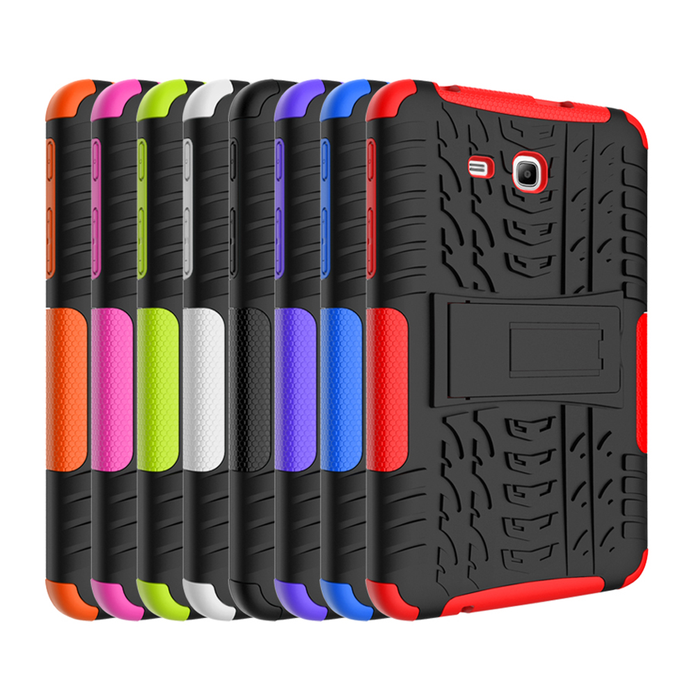 For Samsung Galaxy Tab 3 Lite 7.0 Case Hybrid Armor Shockproof Rugged Dual-Layer Cover For Samsung Galaxy Tab 3 Lite T110 T111
