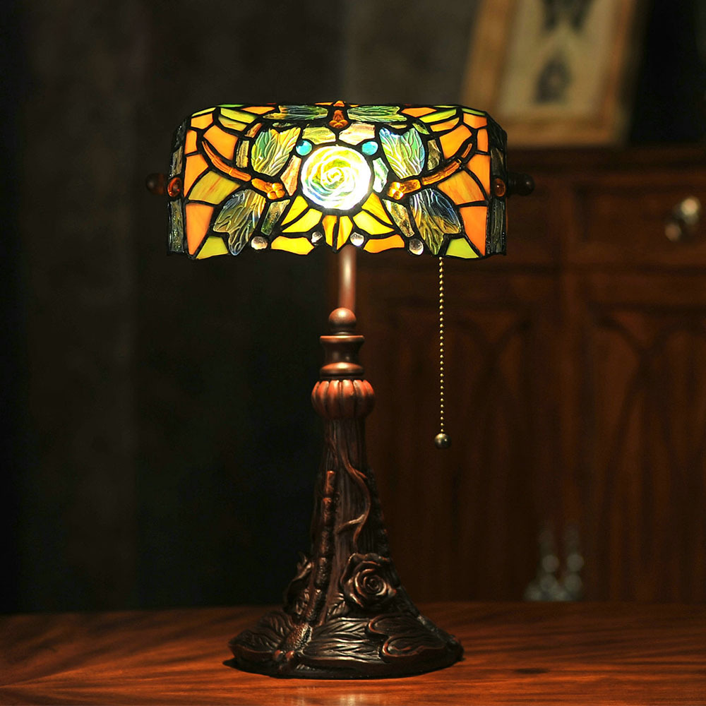 Classic Handmade Inlay Resin Tiffany Table Lamp E27