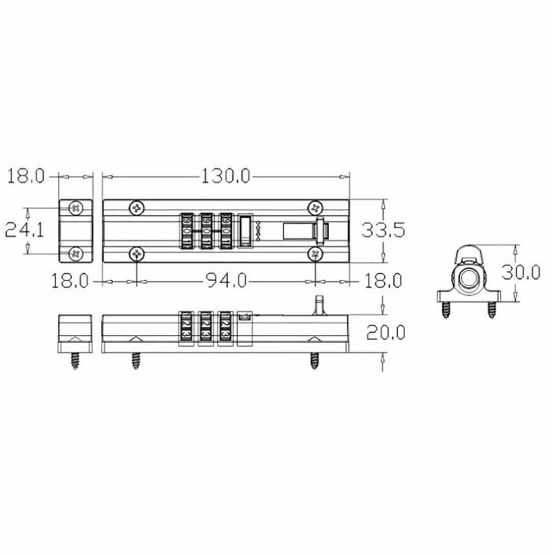 Top Quality Door Bolt Lock Gate Shed Garage Cabinet Resettable Lock Latch Barrel Slide Catch Code Keyless Lock Mayitr Locks
