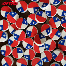 100PCS/lot Chile National Flag Tennis Damper Racket Shock Absorber Tennis Squash Racquet Vibration Dampeners(China)