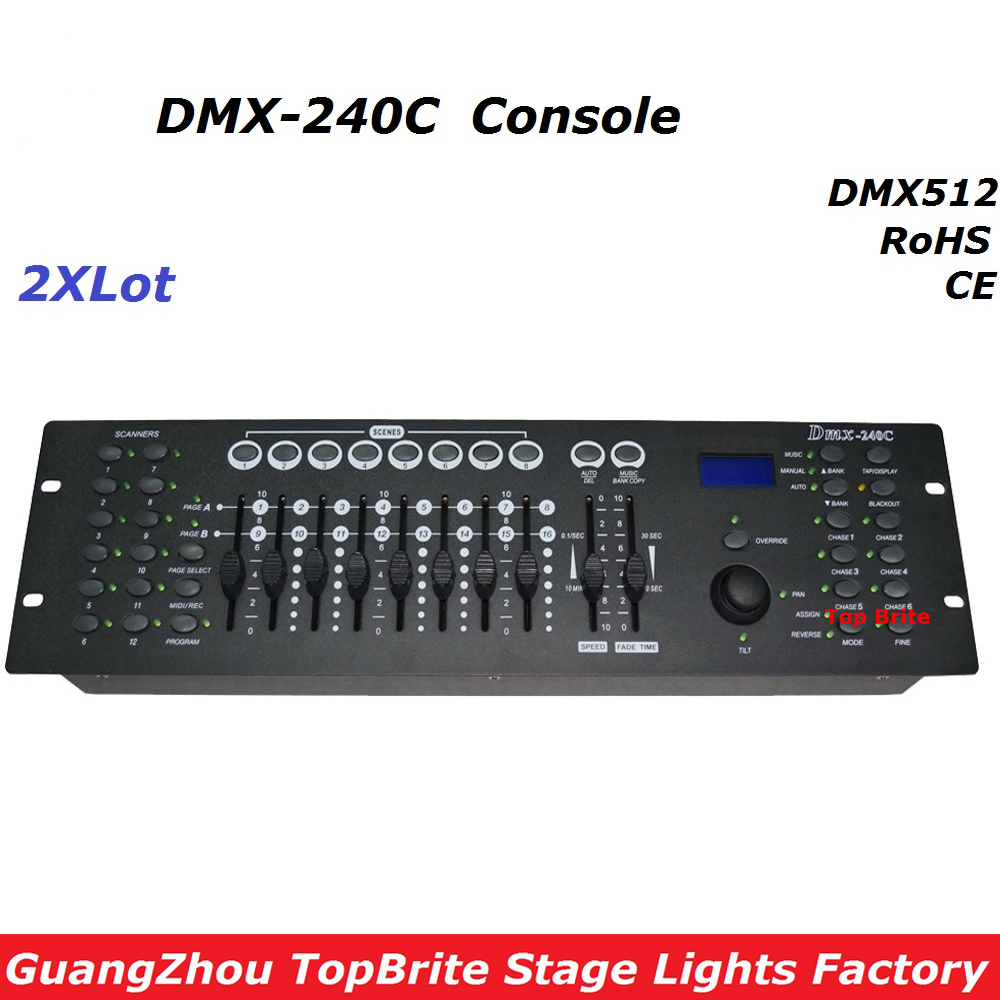 2xLot Factory Price DMX240 Console DMX 512 Controller 192 Channels Professional DJ Disco Controller Equipment Led Stage Lights lightme professional stage dj dmx stage light 192 channels dmx512 controller console dj light for disco ktv home party night