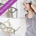 2016 Cute Fashion Korea Lady's Retro Style Pendant Black Glasses Frame Long Necklace Chain Pendant Fashion Jewelry For Female