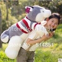 40cm Wholesale Lovely Big Tail Large Facedog Plush Toy Birthday Gift Free Shipping