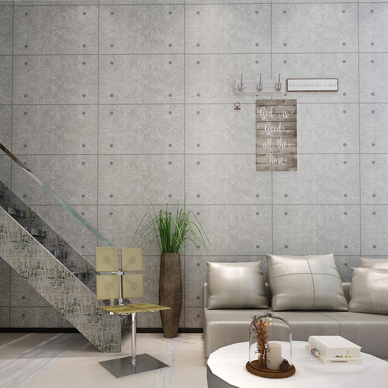 Concrete Brick Style Cafe Restaurant Vinyl Wallpaper
