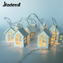 Jiaderui LED NevoIty Wood House LED 1.5m 10 Lots Room Decorative String Lights Wedding party Chrsitmas String Light Garland Lamp