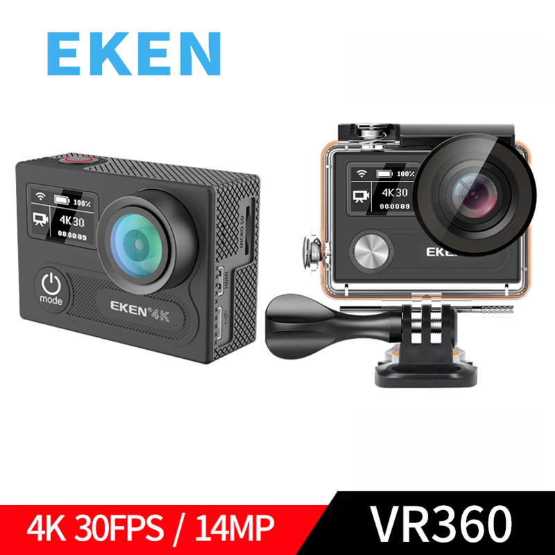 EKEN H8R H8 Ultra HD 4K WIFI 14MP Action Camera 1080p 60fps 4 K Dual Screen Mini Cam 30M Waterproof Go Sport DVR Extreme Pro Cam action camera eken h8 pro ultra hd 4k 30fps h8r 1080p 60fps original remote controller pro cam go waterproof sport camera dvr