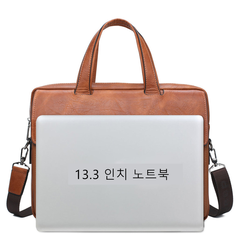 Image 4 - JEEP BULUO Famous Brand Men Bags Business Briefcase Bag Cow Split  Leather High Quality Travel Bags For 14 Laptop A4 Male BagBriefcases