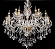 Licht Kroonluchter Moderne Kristallen Grote Kroonluchters Luxe Moderne Kroonluchter Verlichting Mode Luxe Goud Transparant K9 Crystal