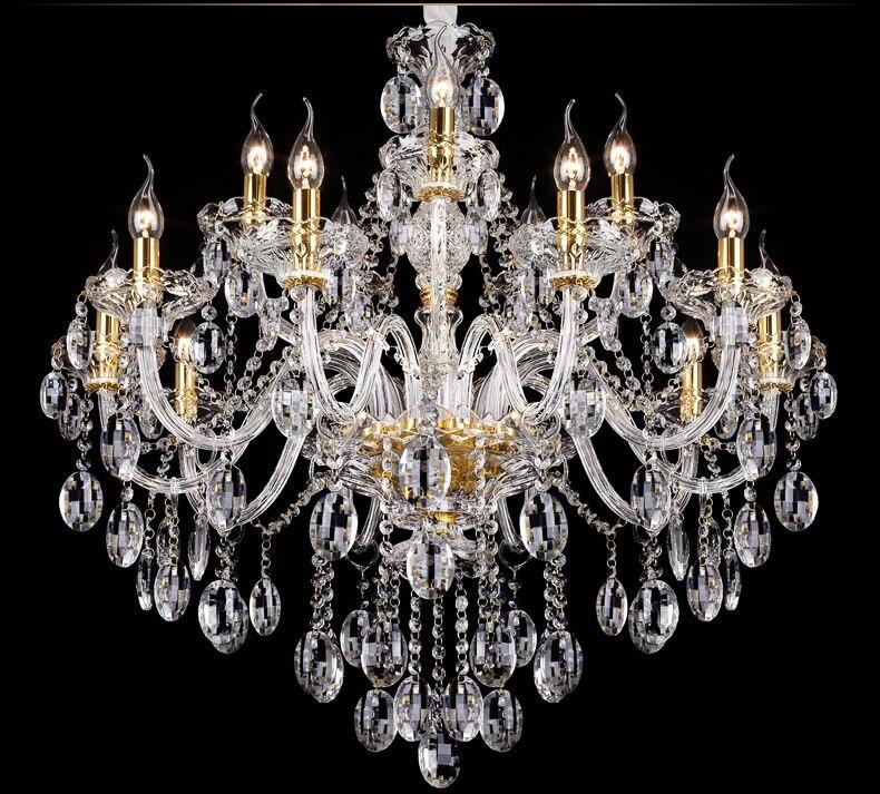 Svetlobni lestenec Moderni kristal Veliki lestenci Luksuzni Moderni - Notranja razsvetljava - Fotografija 5