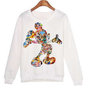 Harajuku Cartoon Comic Mickey Printing Joker Trend Pullover Sweatshirt Mouse Lovers Kawaii Women Casual Long Sleeve Hoodies Tops