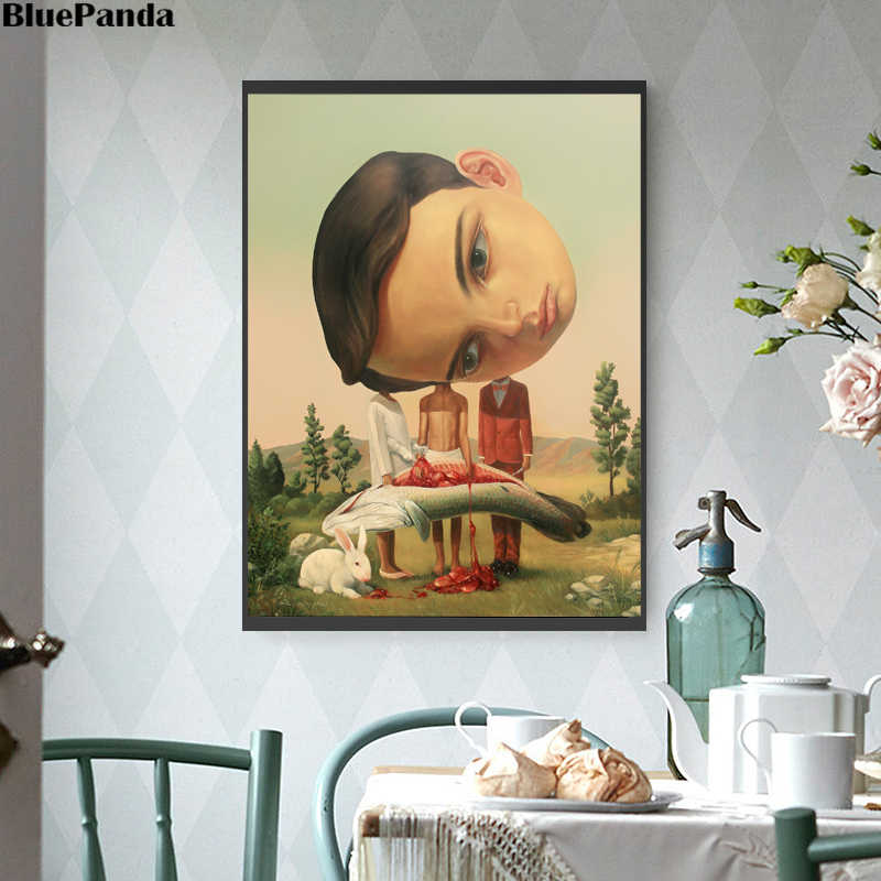 Sweet Agatha Nicoletta Ceccoli Innocence Friendship Poster Painting On Canvas Bedroom Wall Art Decoration Pictures Home Decor
