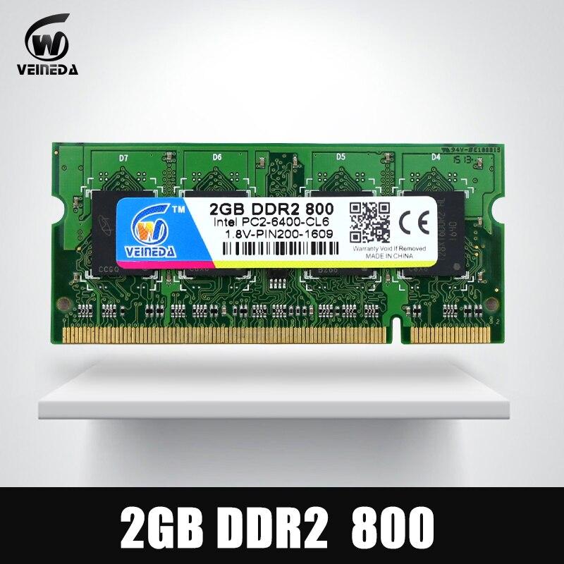 Gelernt Veineda Speicher Ram Ddr2 2 Gb 4 Gb 800 Mhz Laptop Speicher Ram 2 Gb Ddr 2 Pc2-6400 Für Notebook Motherboard Non-ecc Elegant Und Anmutig
