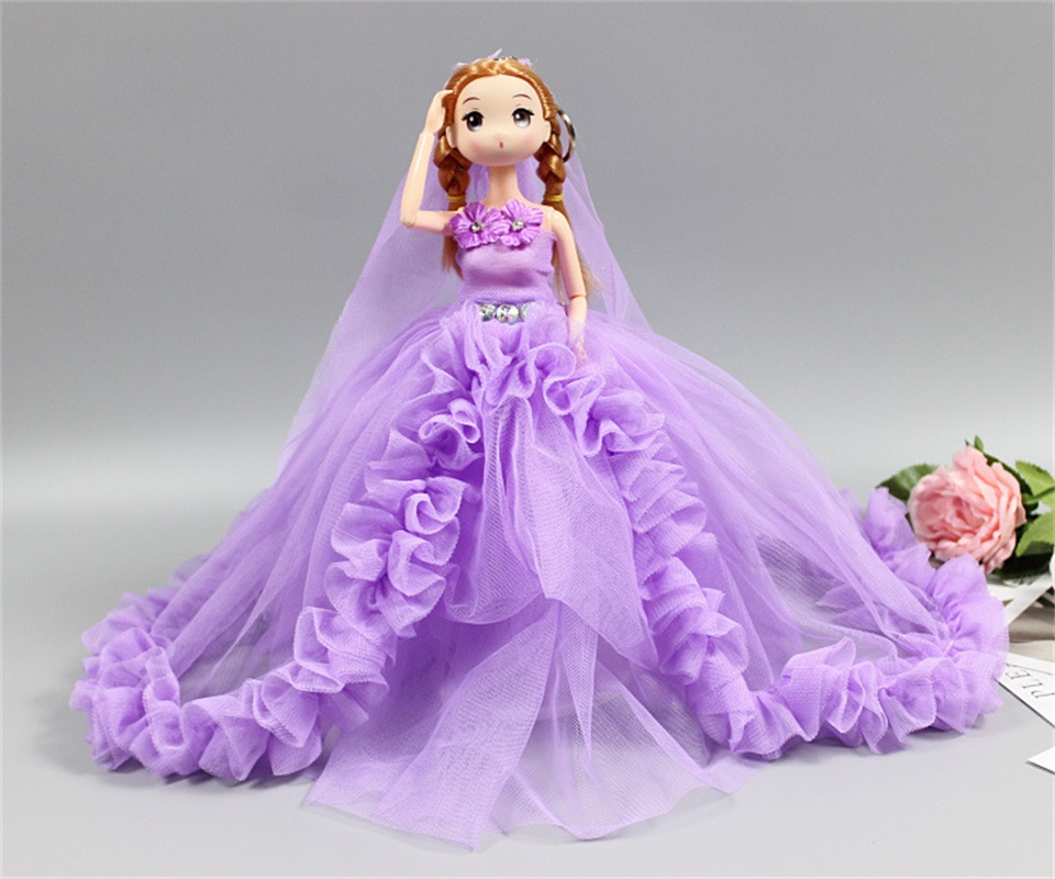 Hot sale 30cm fashion pretty wedding dress baby doll Princess silicone doll children Girls Toy Birthday Christmas Gifts For Kids hot sale kids personalized christmas gifts moana adventure mo ahna moana princess doll gift anime toy figures toys for children