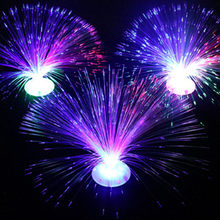 2PCS Beautiful 8 modes Small LED Fiber Optic Flower Nightlight Lamp Light Up Toys Child Room Decoration Toys(China)