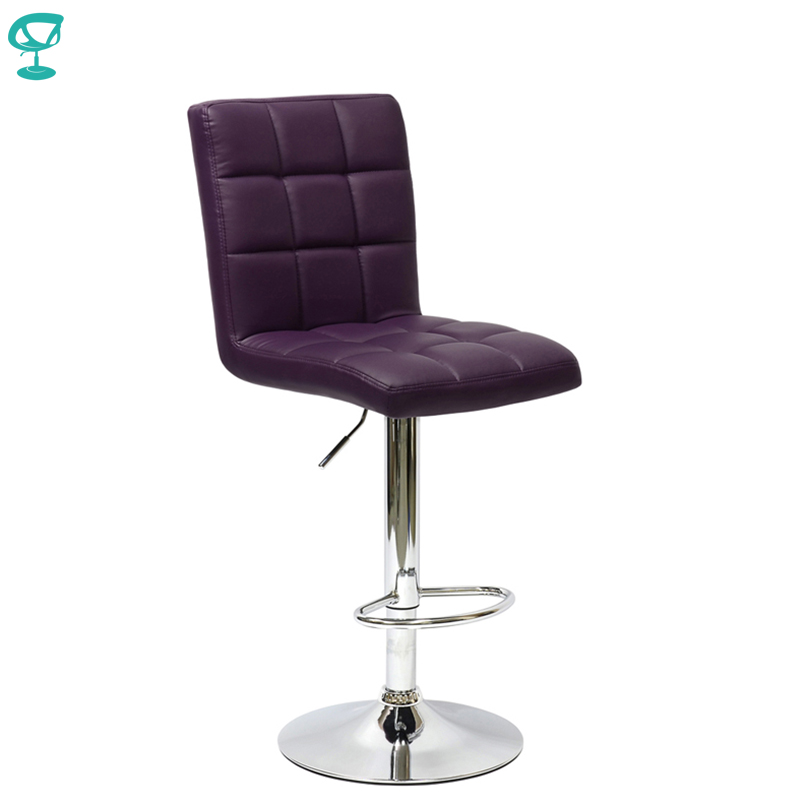 94791 Barneo N-48 Leather Kitchen Breakfast Bar Stool Swivel Bar Chair Purple Color Free Shipping In Russia