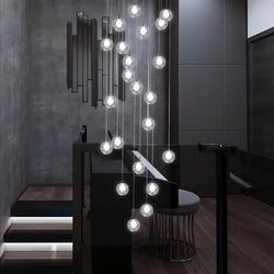 Długi schody żyrandol salon Hall schody żyrandol K9 Crystal Drop lampa wisząca wysoki żyrandol podsufitowy|Żyrandole|Lampy i oświetlenie -