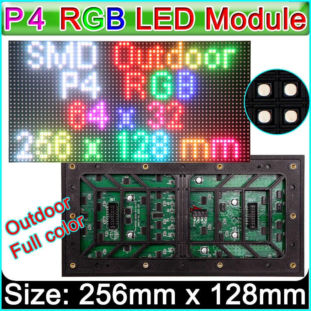 P4 outdoor voll farbe led-anzeige modul, SMD 3 in 1 RGB LED Einheit panel für LED großen bildschirm video wand