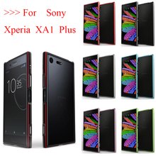 For Sony Xperia XA1 Plus Bumper Case Luxury Shiny Glossy Aluminum Metal Frame Hign-end 5.5