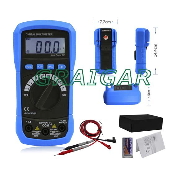 ФОТО ADM01  AUTORANGE DIGITAL MULTIMETER WITH HZ